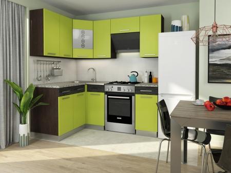Кухня Алиса-11 угловая Венге/Лайм