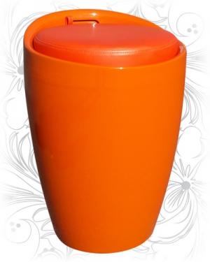 Табурет 1100 оранжевый с местом для хранения