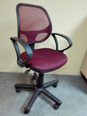 Кресло Чат сетка бордовый